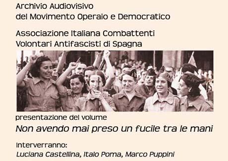 Antifasciste italiane in Spagna per la libertà Presentazione del libro a Roma