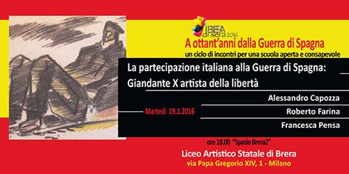 La partecipazione italiana alla Guerra di Spagna: Giandante X artista della libertà
