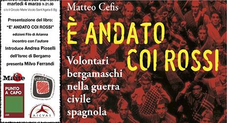 Bergamo. Martedì 4 marzo ore 21 presso il Circolo Maite, vicolo Sant'Agata 6