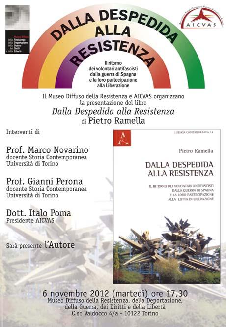 Evento organizzato il 6 novembre a Torino da Museo diffuso della Resistenza e da Aicvas