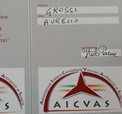 Onorificenza al merito civile della città di Napoli  per Aurelio Grossi