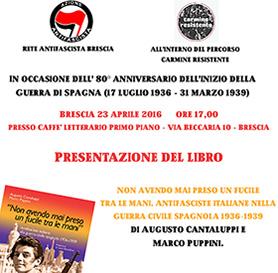 A Brescia e ad Avigliana presentazione  del libro sulle Italiane in Spagna