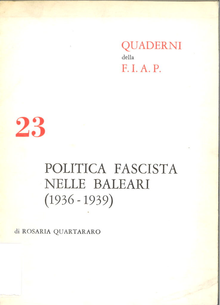 Politica fascista nelle Baleari : 1936-1939