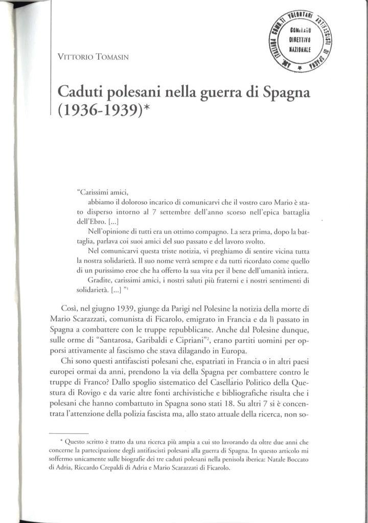 Caduti polesani nella guerra di Spagna, 1936-1939