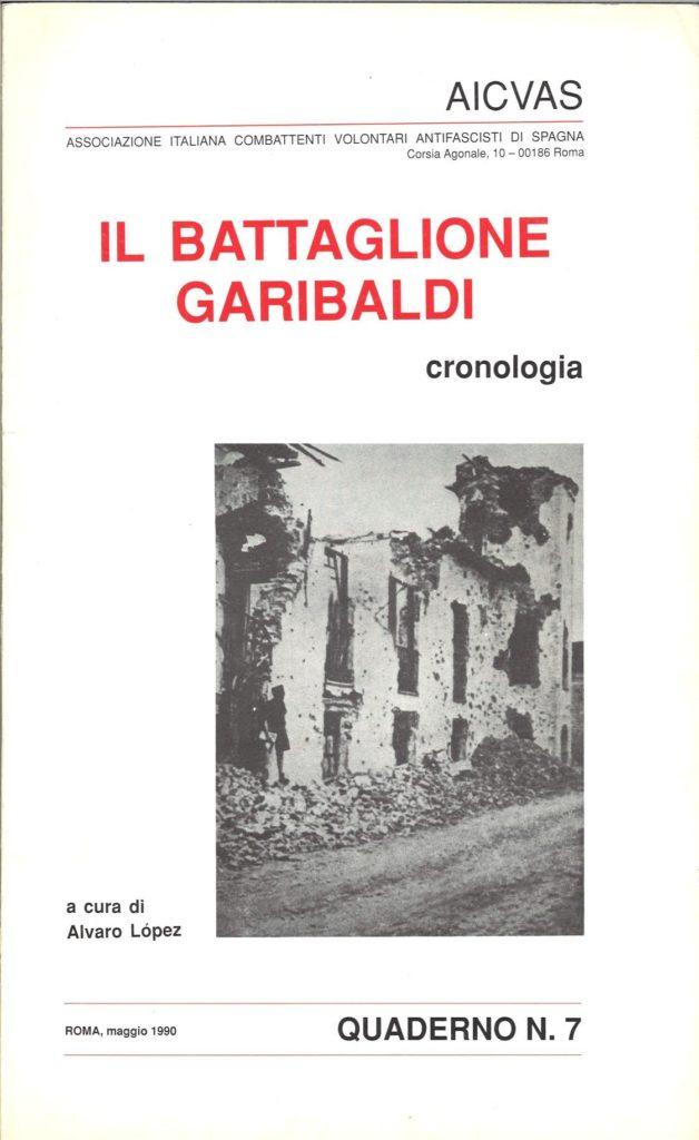 Il battaglione Garibaldi : cronologia