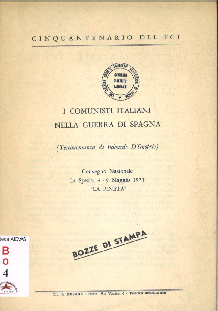 I comunisti italiani nella guerra di Spagna