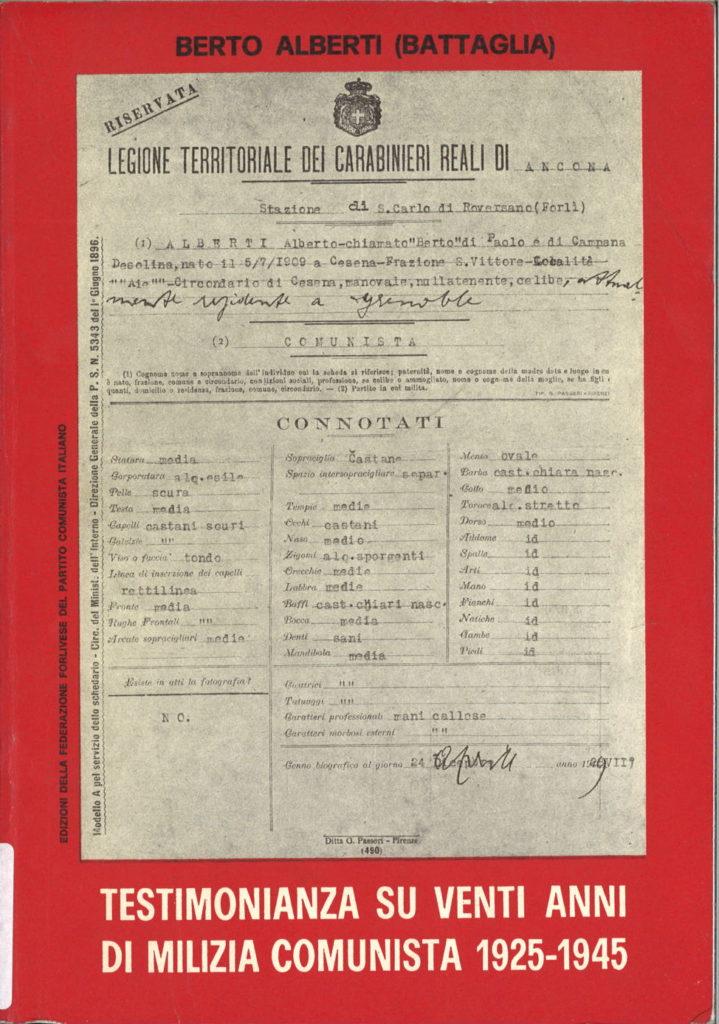Testimonianza su venti anni di milizia nel Partito comunista italiano : 1925-1945