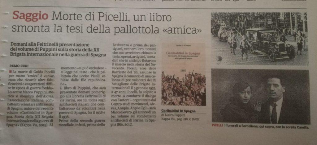 Tre giorni per Guido Picelli… Parma, 3/5 gennaio 2020