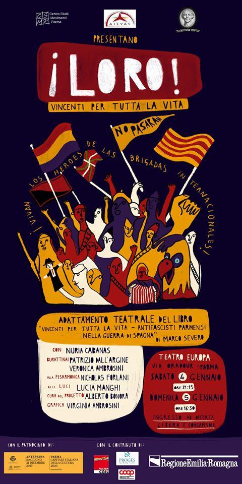 """Spettacolo Teatrale a Parma """"¡LORO! VINCENTI PER TUTTA LA VITA"""