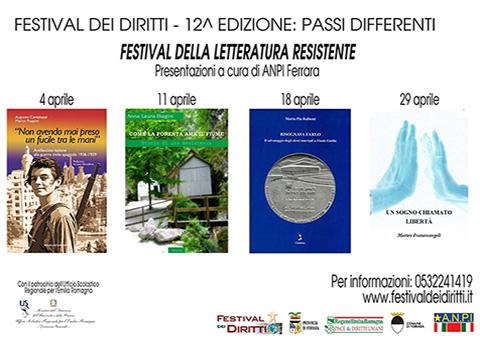 Festival della letteratura resistente Anpi Ferrara dal 4 al 29 aprile