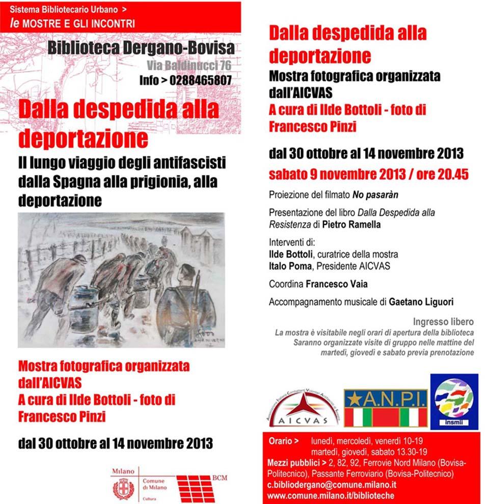 Mostra fotografica organizzata dall'Aicvas presso la Biblioteca Dergano-Bovisa di Milano