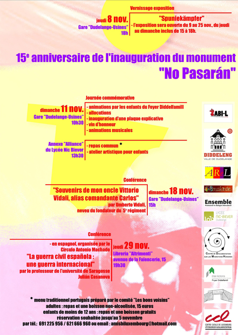 "Journée ""NO PASARÁN"" a Dudelange in Lussemburgo"