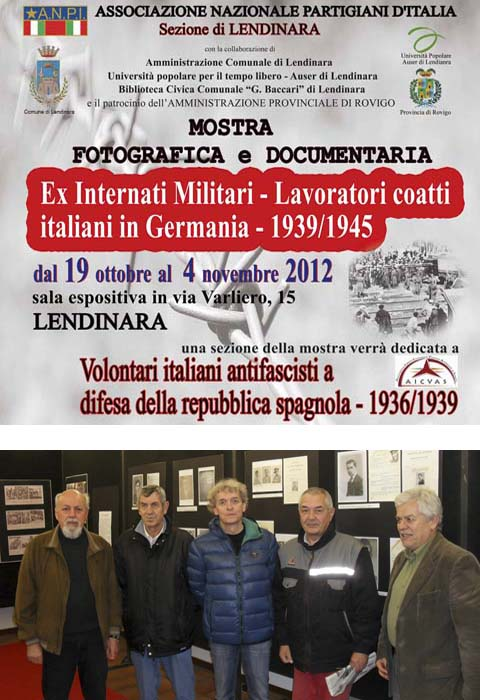 Dal 19 ottobre al 4 novembre 2012 a Lendinara mostra fotografica e documentaria