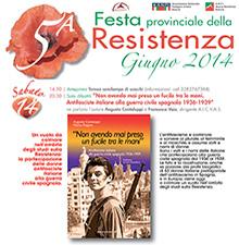 Presentazione del libro a Rovato  alla festa dell'Anpi di Brescia