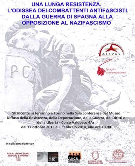 """A Torino serie di incontri sul tema: """"Dalla guerra di Spagna all'opposizione al nazifascismo"""""""