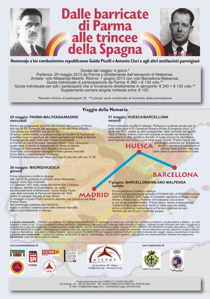 Omaggio ai combattenti repubblicani Guido Picelli e Antonio Cieri