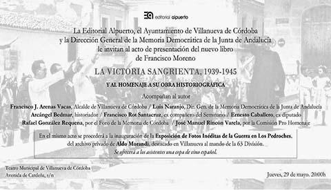Importante mostra  allestita a Villanueva de Cordoba