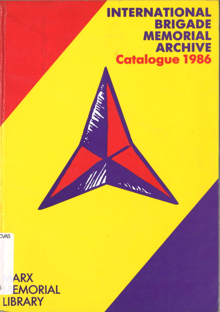 International brigades memorial archive : catalogue 1986