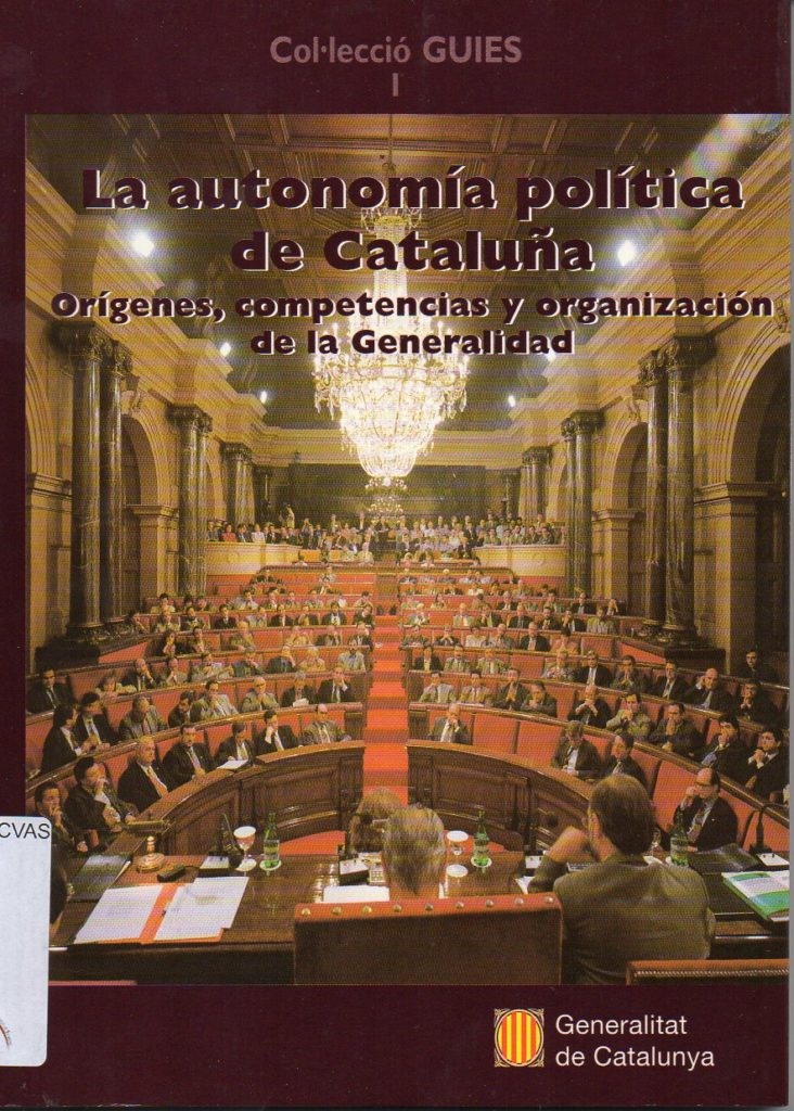 La autonomia politica de Cataluna :