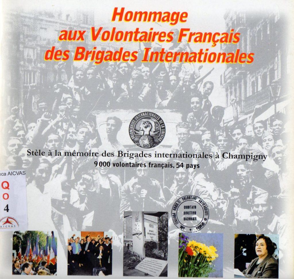 Hommage aux volontaires français des Brigades Internationales