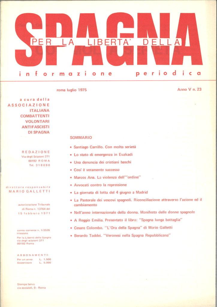 Per la libertà della Spagna : informazione periodica