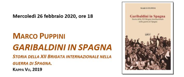 """Presentazione del Volume """"Garibaldini In Spagna"""" EVENTO ANNULLATO (causa covid 19)"""