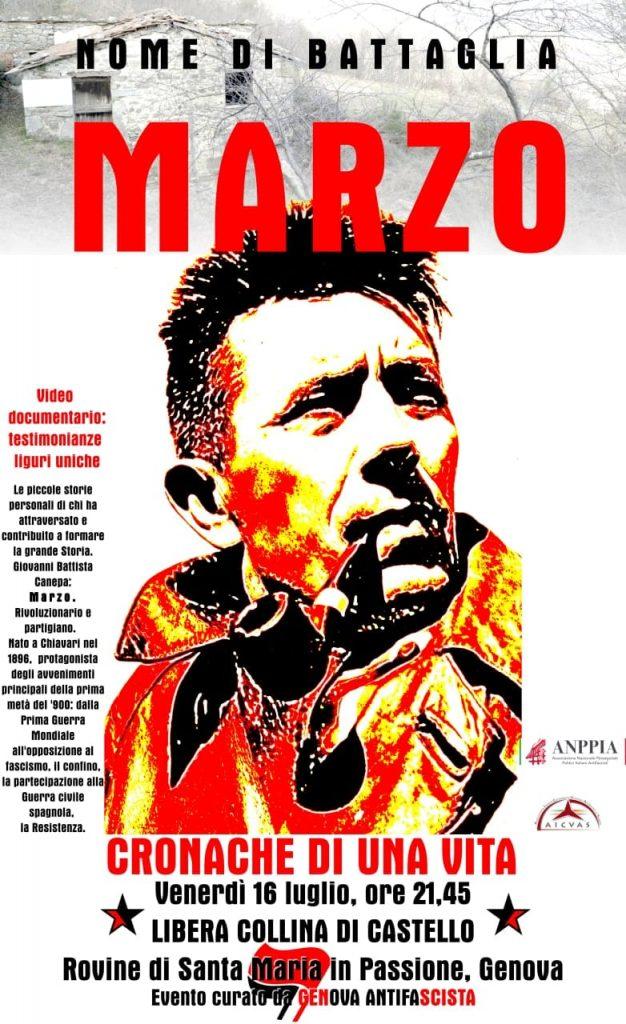 """PROIEZIONI DOCU-FILM """"MARZO. CRONACHE DI UNA VITA"""""""