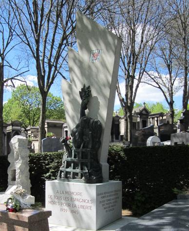 Parigi Père Lachaise - Monumento ai Repubblicani spagnoli - FRANCIA