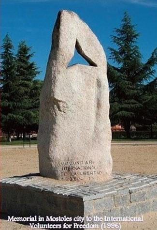 Móstoles - Memoriale ai Volontari Internazionali per la Libertà - SPAGNA